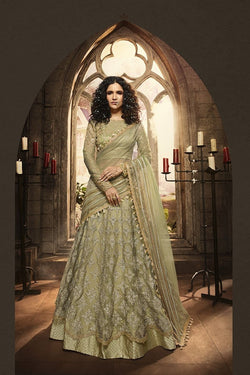 Heavy Designer Lehenga Choli In Pastel Green Paired With Pastel Green Dupatta STC0081
