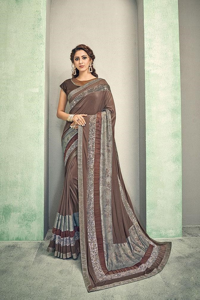 Brown hued saree STC3016