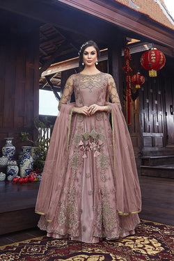 Designer Indo Western Dress In All Over Onion Pink Color STC 2093