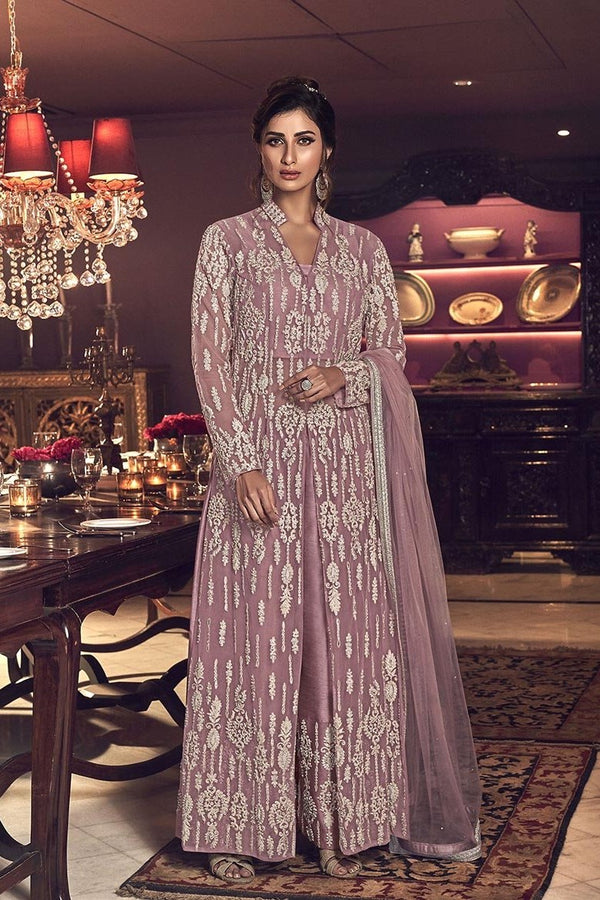 Designer Indo Western Suit In Pastel Pink Color STC4041