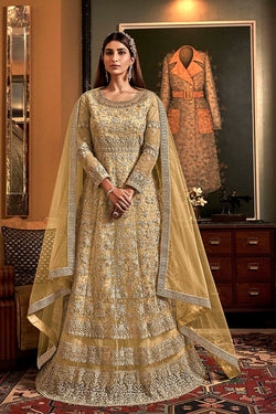 Designer Suit Is Here In Light Yellow Color STC4039