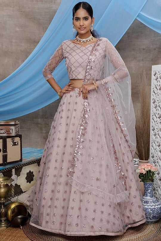 All Over Mauve Color Lehenga Choli STC0009