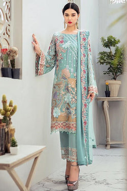 Designer Straight Suit In Sky Blue Color STC 2047