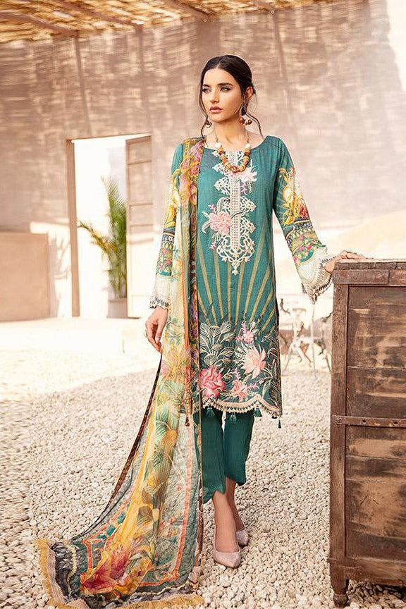 Designer Straight Suit In Teal Green Color STC 2048