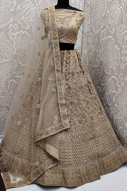 Heavy Designer Elegant Lehenga Choli In Beige Color STC0066