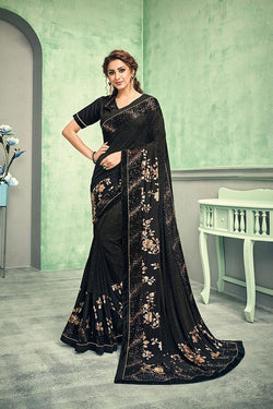 Black color saree STC3022