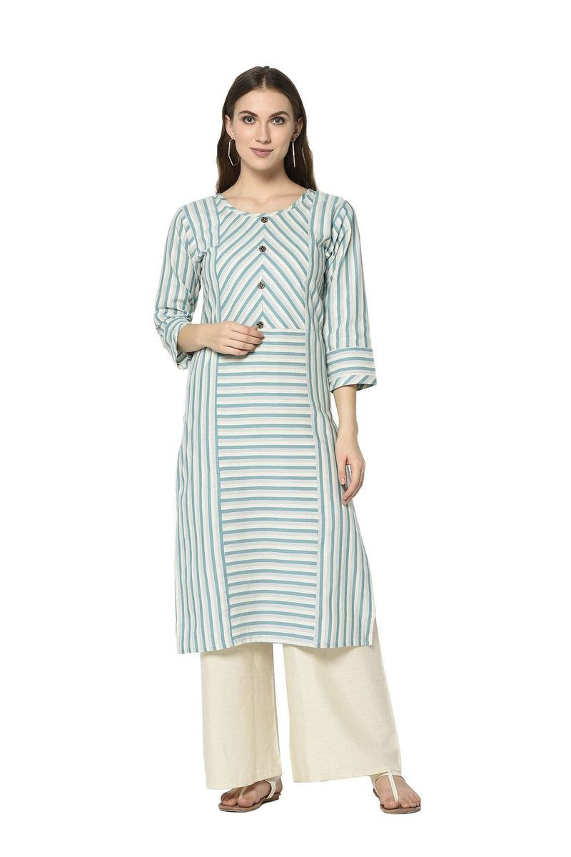 Pretty Kurti In Sky Blue Color STC9114
