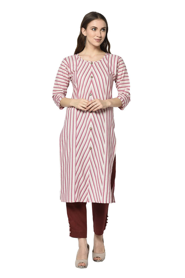 Pretty Straight Kurti In Pink Color STC9115