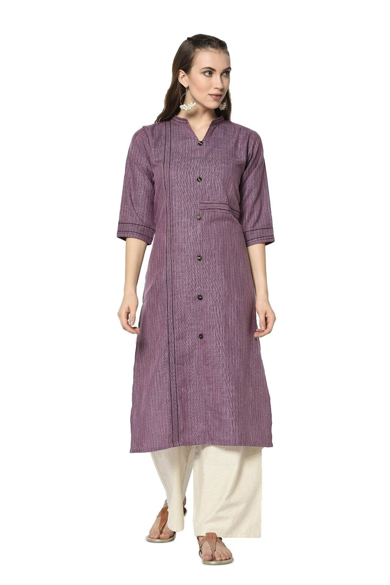 Pretty Straight Kurti In Purple Color STC9119