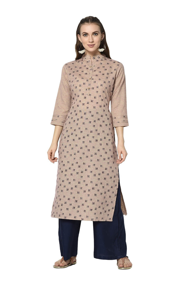 Pretty Straight Kurti In Peach Color STC9125