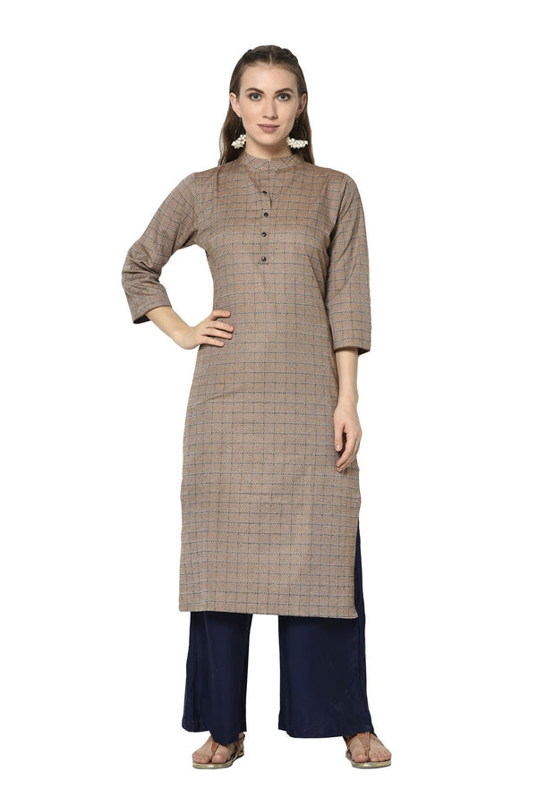 Pretty Straight Kurti In Light Brown Color STC9123