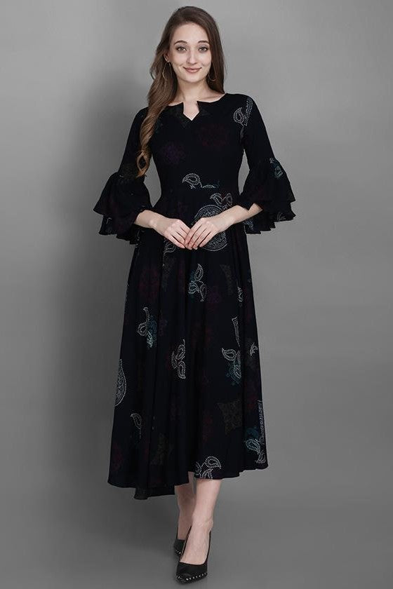 Kurti In Black Color STC9127