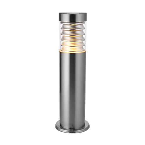 Bisque Equinox post IP44 23W Marine grade brushed stainless steel & clear pc - 49910 equinox-post-ip44-23w-marine-grade-brushed-stainless-steel-clear-pc-49910