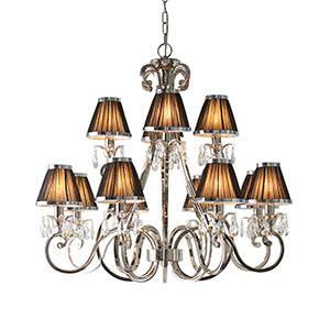 Dark Slate Gray Interiors 1900 - Oksana nickel 12lt Pendant 63507 interiors-1900-63507-multi-arm-shade-63507