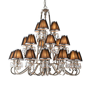 Rosy Brown Interiors 1900 - Oksana nickel 21lt Pendant 63508 interiors-1900-63508-multi-arm-shade-63508