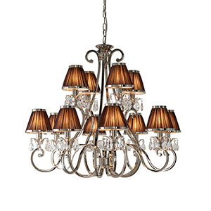 Sienna Interiors 1900 - Oksana nickel 12lt Pendant 63509 interiors-1900-63509-multi-arm-shade-63509