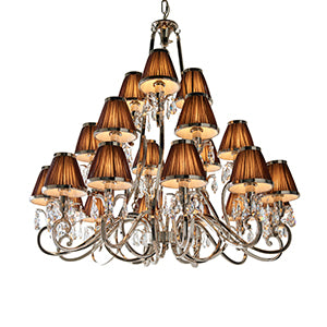 Dark Salmon Interiors 1900 - Oksana nickel 21lt Pendant 63510 interiors-1900-63510-multi-arm-shade-63510