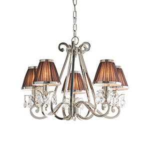 Dark Salmon Interiors 1900 - Oksana nickel 5lt Pendant 63511 interiors-1900-63511-multi-arm-shade-63511