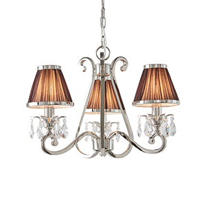 Rosy Brown Interiors 1900 - Oksana nickel 3lt Pendant 63513 interiors-1900-63513-multi-arm-shade-63513