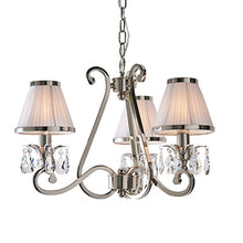 Load image into Gallery viewer, White Smoke Interiors 1900 - Oksana nickel 3lt Pendant 63514 interiors-1900-63514-multi-arm-shade-63514