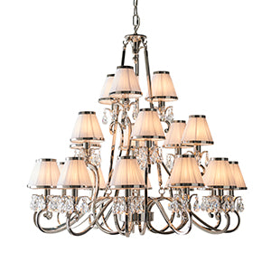 White Smoke Interiors 1900 - Oksana nickel 21lt Pendant 63516 interiors-1900-63516-multi-arm-shade-63516