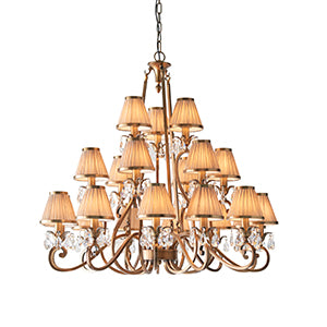 Tan Interiors 1900 - Oksana antique brass 21lt Pendant 63519 interiors-1900-63519-multi-arm-shade-63519