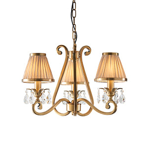 Tan Interiors 1900 - Oksana antique brass 3lt Pendant 63520 interiors-1900-63520-multi-arm-shade-63520