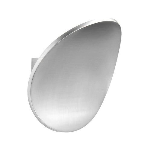 Gray Endon  Cassa 1lt Wall Lamp Polished aluminium - Aluminium alloy endon-cassa-1lt-wall-lamp-polished-aluminium-aluminium-alloy