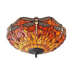 Chocolate Interiors 1900 - Dragonfly flame 2lt Flush 70721 interiors-1900-70721-decorative-70721