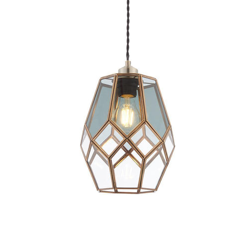 Rosy Brown Endon  Ripley 1lt Pendant Antiqued solid brass with clear & smoked glass - Brass & glass endon-ripley-1lt-pendant-antiqued-solid-brass-with-clear-smoked-glass-brass-glass