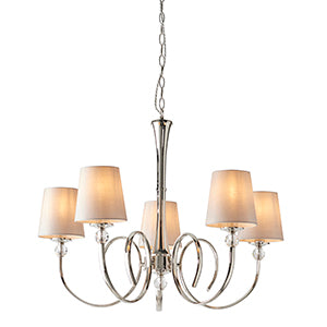 Tan Interiors 1900 - Fabia 5lt Pendant 74428 interiors-1900-74428-multi-arm-shade-74428