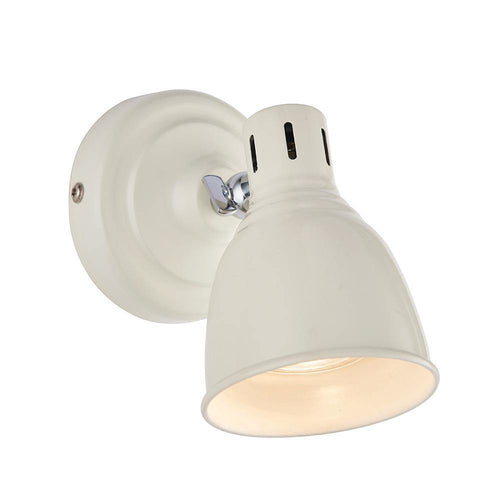 Light Gray Endon  Westbury 1lt Spot Gloss ivory & gloss white - Steel endon-westbury-1lt-spot-gloss-ivory-gloss-white-steel