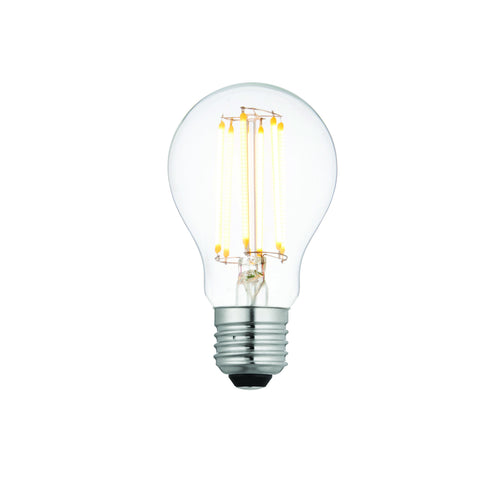 Antique White E27 LED filament GLS dimmable 8W Clear glass & bright nickel plate - 76799 e27-led-filament-gls-dimmable-8w-clear-glass-bright-nickel-plate-76799