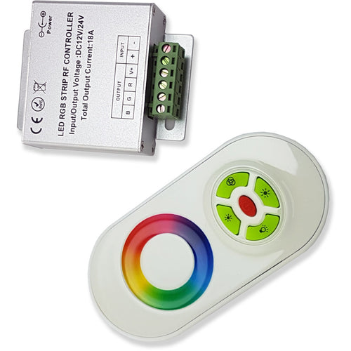 Yellow Green Techtouch 80300 TOUCH RF WHITE CONTROLLER 3 CHANNEL 180W (RGB)