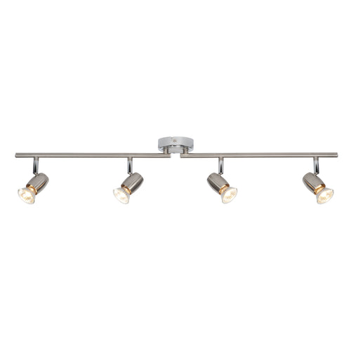 Gray Palermo 4lt bar 50W Brushed chrome effect & chrome effect plate - G5503177 palermo-4lt-bar-50w-brushed-chrome-effect-chrome-effect-plate-g5503177