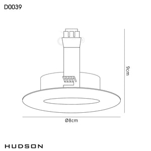 Snow Deco D0039 Hudson GU10 Fixed Downlight Gold (Lamp Not Included) deco-d0039-hudson-gu10-fixed-downlight-gold-lamp-not-included