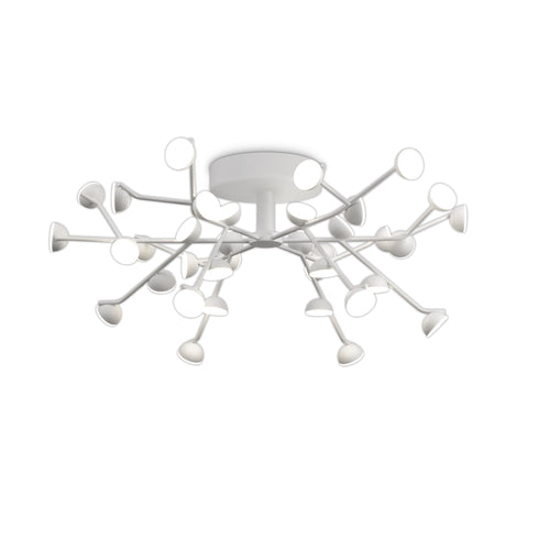 White Smoke Mantra M6415 Adn 36 Light Ceiling, Round 74cm, 100W LED, 3000K, 5500lm, White, 3yrs Warranty