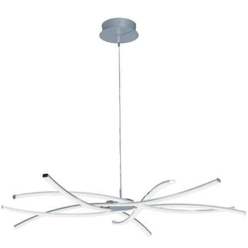 White Smoke Mantra M5910 Aire LED Pendant 100cm Round 60W 3000K, 4800lm, Dimmable Silver/Frosted Acrylic/Polished Chrome, 3yrs Warranty