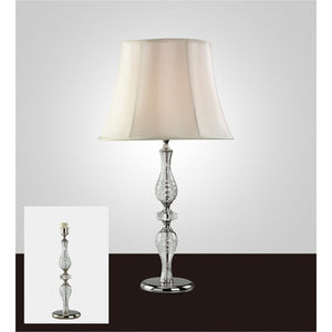 Gray Diyas IL11024 Albas Crystal Table Lamp Without Shade 1 Light Silver Finish