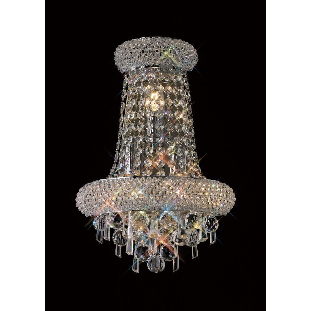 Dim Gray Diyas IL31442 Alexandra Wall Lamp Large 3 Light Polished Chrome/Crystal diyas-il31442-alexandra-wall-lamp-large-3-light-polished-chrome-crystal Alexandra