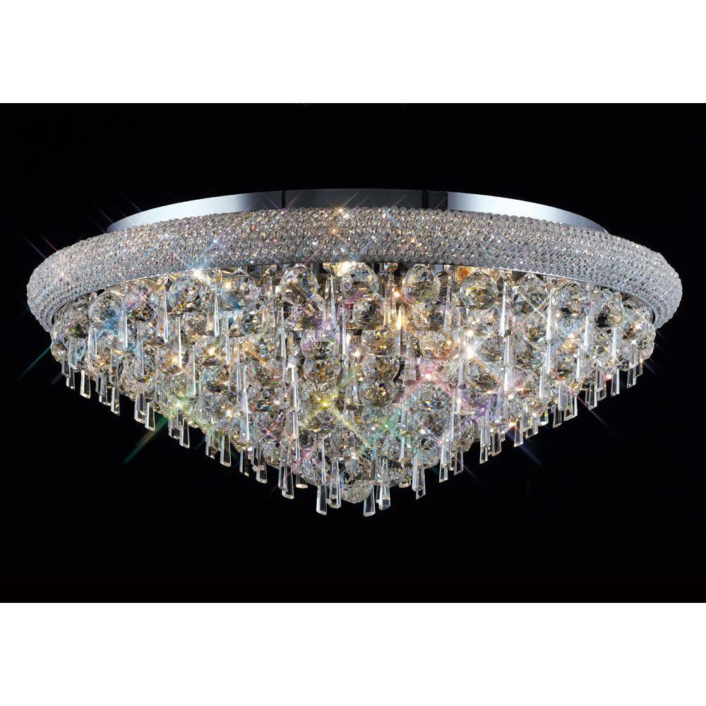 Dark Gray Diyas IL31448 Alexandra Ceiling 16 Light Polished Chrome/Crystal