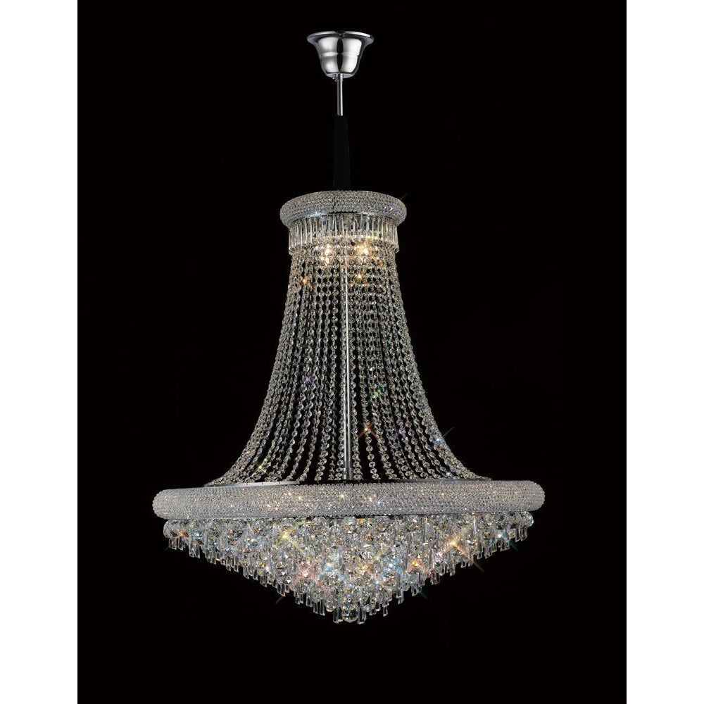 Black Diyas IL31453 Alexandra Pendant 20 Light Polished Chrome/Crystal diyas-il31453-alexandra-pendant-20-light-polished-chrome-crystal Alexandra