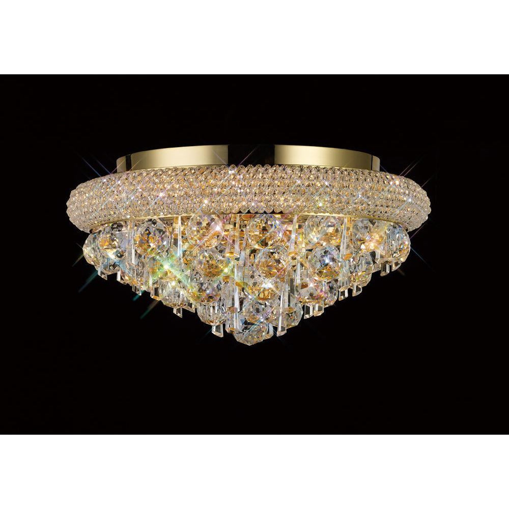 Rosy Brown Diyas IL32105 Alexandra Ceiling 6 Light French Gold/Crystal