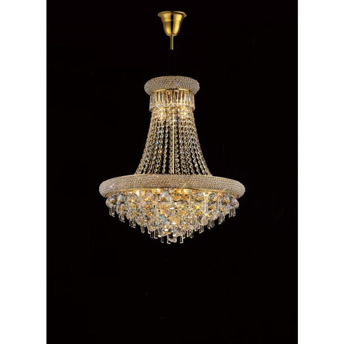 Rosy Brown Diyas IL32111 Alexandra Pendant 13 Light French Gold/Crystal