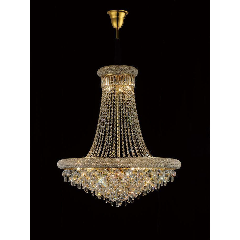 Dim Gray Diyas IL32113 Alexandra Pendant 20 Light French Gold/Crystal diyas-il32113-alexandra-pendant-20-light-french-gold-crystal Alexandra