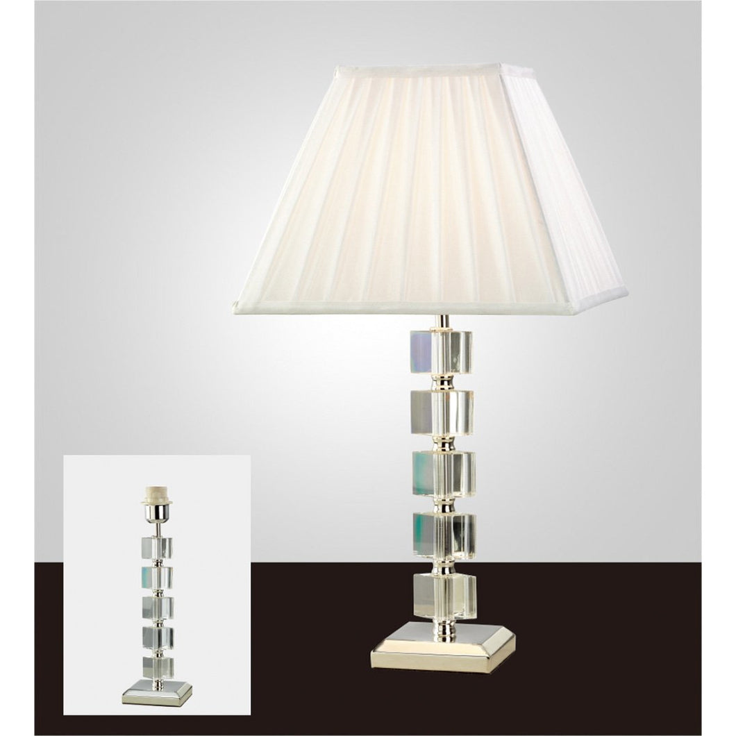 Beige Diyas IL11021 Alina Crystal Table Lamp Without Shade 1 Light Silver Finish diyas-il11021-alina-crystal-table-lamp-without-shade-1-light-silver-finish Alina