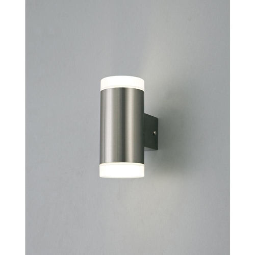 Dim Gray Deco D0262 Alpin Up & Downward Lighting Cylinder Wall Lamp, 2x4W LED IP44 deco-d0262-alpin-up-downward-lighting-cylinder-wall-lamp-lamp-2x4w-led-ip44-ext-interior-4000k-stainless-steel-frosted-polycarbonate-diffuser