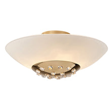 Load image into Gallery viewer, Bisque Diyas IL30692  Amada Ceiling 6 Light French Gold/Frosted Glass