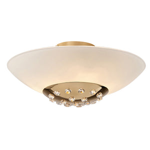 Bisque Diyas IL30692  Amada Ceiling 6 Light French Gold/Frosted Glass