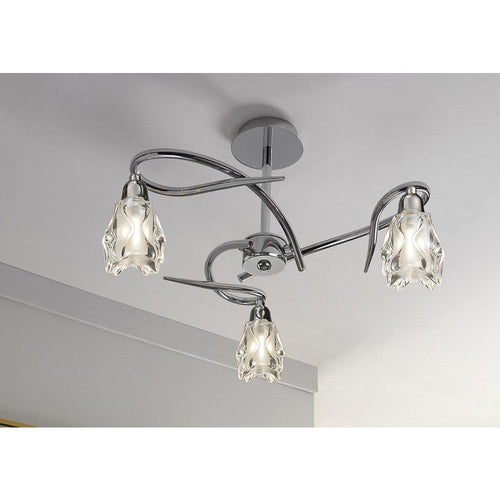 Gray Mantra M0623 Amel Ceiling E14 3 Light Polished Chrome